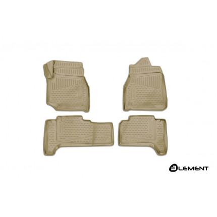 Коврики 3D в салон TOYOTA Land Cuiser (J100), 1998-2007, П.Р. 4WD, дизель, АКПП, 4 шт. (полиуретан)